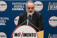 Renato Scalia<br /> <br /> Roma 29/01/2018. Presentazione dei candidati nelle liste uninominali del Movimento 5 Stelle.<br /> Rome January 29th 2018. Presentation of the candidates for Movement 5 Stars.<br /> Foto Samantha Zucchi Insidefoto