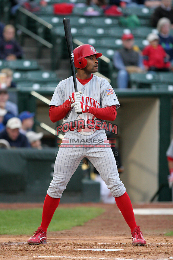Scranton Wilkes-Barre Red Barons Bobby Scales during an International League game at Frontier Field on September 3, 2006 in Rochester, New York.  (Mike Janes/Four Seam Images)