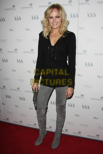 """MALIN AKERMAN.""""Girl Walks Into a Bar"""" Los Angeles Premiere Held at The Arclight Theater, Hollywood, California, USA..March 7th, 2011.full length black top grey gray jeans denim tucked into suede boots clutch bag.CAP/ADM/TB.©Tommaso Boddi/AdMedia/Capital Pictures."""