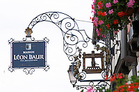 wrought iron sign leon baur eguisheim alsace france