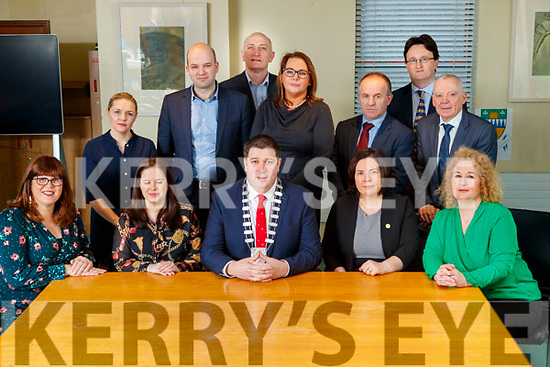 Front from left: Bridget Fitzgerald, Kerry County Council, Louise Burke, IRD Duhallow, Niall Kelliher, Mayor Kerry County Council, Moira Murrell, CEO Kerry County Council and Brid McElligott, IT Tralee. Back from Left: Sarah Flaherty, IT Tralee and The Tom Crean Business Centre, Dónal Mac an tSíthigh Údarás na Gaeltachta, Tomás Hayes, Kerry Enterprise Board, Patricia Dowling, NEWKD, Brendan O'Donnell, IT Tralee, Noel Spillane, South Kerry Partnership and Michael Scannell, Kerry County Council.