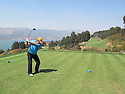 Phil Inglis drives from the 1st tee at the Trent Jones Jnr designed Spring City Golf Course  at Kunming, Yunnan Province, China on 14th March 2011 Picture Credit / Phil Inglis.....
