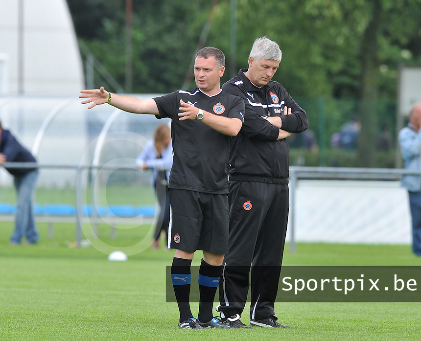 eerste training Club Brugge Dames : Jean-Marie Saeremans (rechts) en Karel Gobert.foto DAVID CATRY / Vrouwenteam.be