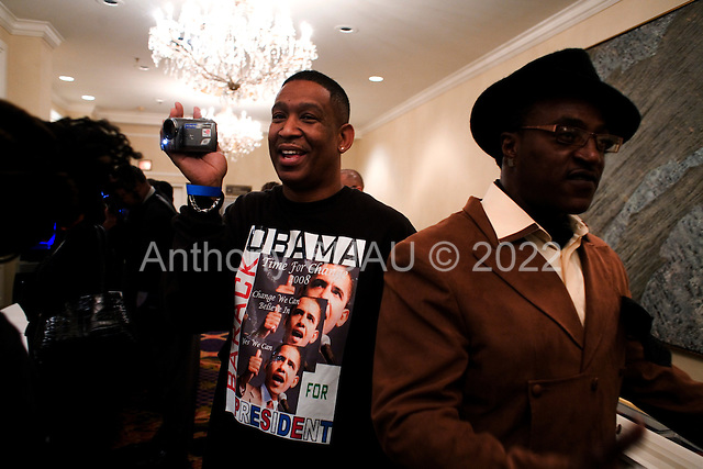 Chicago, Illinois.November 4, 2008.USA..A Democratic victory party hosted by Jesse Jackson Jr. is held in the Hilton Hotel the night Senator Barack Obama is elected President of the United States of America.