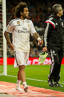 Real Madrid´s Marcelo Vieira during 2014-15 La Liga match between Real Madrid and Deportivo de la Coruna at Santiago Bernabeu stadium in Madrid, Spain. February 14, 2015. (ALTERPHOTOS/Luis Fernandez) /NORTEphoto.com