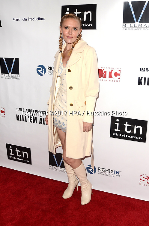 """LOS ANGELES - JUN 6:  Dominique Swain at the """"Kill 'Em All"""" Premiere at the Harmony Gold Theater on June 6, 2017 in Los Angeles, CA"""