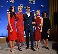 Simone Johnson, Sharon Stone, Garrett Hedlund, Kristen Bell &amp; Alfre Woodard at the nominations announcement for the 75th Annual Golden Globe Awards at The Beverly Hilton Hotel, Beverly Hills, USA 11 Dec. 2017<br /> Picture: Paul Smith/Featureflash/SilverHub 0208 004 5359 sales@silverhubmedia.com