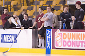 Anthony Aiello, Justin Greene, Joe Rooney, Mike Brennan, Tim Filangieri, Cory Schneider, Brian Boyle - The Boston College Eagles defeated the Northeastern University Huskies 5-2 in the opening game of the 2006 Beanpot at TD Banknorth Garden in Boston, MA, on February 6, 2006.