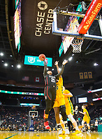 SAN FRANCISCO, CA - NOVEMBER 09: San Francisco, CA - November 9, 2019: DiJonai Carrington at the Chase Center. The Stanford Cardinal defeated the USF Dons 97-71. during a game between University of San Francisco and Stanford Basketball W at Chase Center on November 09, 2019 in San Francisco, California.