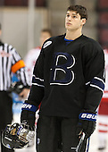 Tyler Deresky (Bentley - 11) - The visiting Bentley University Falcons defeated the Boston University Terriers 4-1 (EN) on Saturday, December 14, 2013, at Agganis Arena in Boston, Massachusetts.