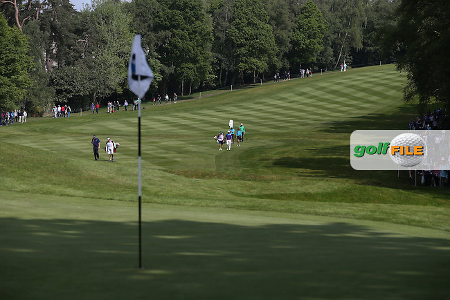 View up the 4th during Round Three of the 2015 BMW PGA Championship over the West Course at Wentworth, Virginia Water, London. 23/05/2015. Picture David Lloyd | www.golffile.ie.