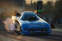 Mar 15, 2019; Gainesville, FL, USA; NHRA funny car driver Matt Hagan during qualifying for the Gatornationals at Gainesville Raceway. Mandatory Credit: Mark J. Rebilas-USA TODAY Sports