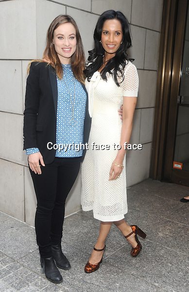 New York, NY- May 7: Olivia Wilde and Padma Lakshmi arrive outside the 2nd Annual Moms + Social Good Conference at the Paley Center on May 7, 2014 in New York City. Credit: RTNStevens/MediaPunch<br />