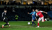 Fleetwood Town's Paddy Madden (right) scoring his side's first goal <br /> <br /> Photographer Andrew Kearns/CameraSport<br /> <br /> The EFL Sky Bet League One - Wycombe Wanderers v Fleetwood Town - Tuesday 11th February 2020 - Adams Park - Wycombe<br /> <br /> World Copyright © 2020 CameraSport. All rights reserved. 43 Linden Ave. Countesthorpe. Leicester. England. LE8 5PG - Tel: +44 (0) 116 277 4147 - admin@camerasport.com - www.camerasport.com