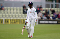 Varun Chopra of Essex leaves the field having been dismissed for 21 during Worcestershire CCC vs Essex CCC, Specsavers County Championship Division 1 Cricket at Blackfinch New Road on 12th May 2018