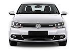 Straight front view of a 2013 Volkswagen Jetta Comfortline Hybrid Sedan2013 Volkswagen Jetta Comfortline Hybrid Sedan