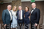Oliver Hurley Rose of Tralee Elysha Brennan Anthony O'Gara, Executive Chairman of the Rose of Tralee International Festival, Valerie Kerins and Daithi O Se at The Rose Hotel (Fels Point) Launch of refurbished hotel on Friday