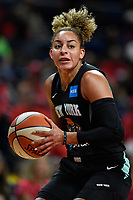 Washington, DC - August 25, 2019: New York Liberty guard Bria Hartley (14) makes a move to the basket during first half action of game between the New York Liberty and the Washington Mystics at the Entertainment and Sports Arena in Washington, DC. The Mystics defeated New York 101-72. (Photo by Phil Peters/Media Images International)