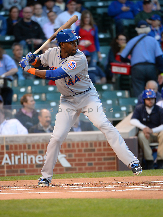 New York Mets John Mayberry Jr. (44) during a game against the Chicago Cubs on May 11, 2015 at Wrigley Field in Chicago, IL. The Cubs beat the Mets 4-3.