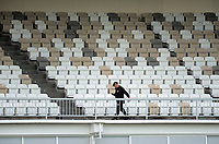 The new RA Vance Stand seating during Wellington Firebirds practice match at the Basin Reserve in Wellington, New Zealand on Tuesday, 10 October 2017. Photo: Dave Lintott / lintottphoto.co.nz