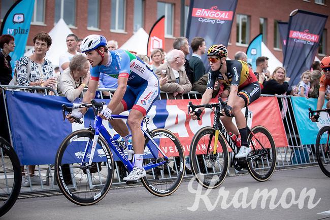 Romain Cardis (FRA/Total Direct Energie) and Tim Merlier (BEL/Corendon Circus)<br /> <br /> 23th Memorial Rik Van Steenbergen 2019<br /> One Day Race: Beerse > Arendonk 208km (UCI 1.1)<br /> ©kramon
