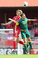 Alex Lawless of Ebbsfleet United and Kristian Dennis of Notts County during Ebbsfleet United vs Notts County, Vanarama National League Football at The Kuflink Stadium on 24th August 2019