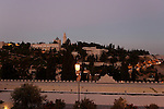 A view of Mount Zion as seen from Mishkenot Sha'ananim at Yemin Moshe neighborhood<br />