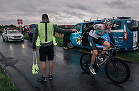 Ian Stannard (GBR/SKY) in the feedzone<br /> <br /> Stage 7: West Bridgford to Mansfield (215km)<br /> 15th Ovo Energy Tour of Britain 2018