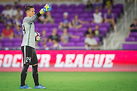 Orlando, FL - Thursday September 07, 2017: Ashlyn Harris during a regular season National Women's Soccer League (NWSL) match between the Orlando Pride and the Seattle Reign FC at Orlando City Stadium.