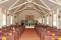 Inside of Kalaiakamanu Hou Congregational Church, Kaunakakai, Moloka'i