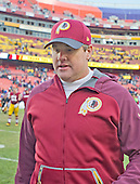 Washington Redskins head coach Jay Gruden leavees the field following his team's 35-25 victory over the Buffalo Bills at FedEx Field in Landover, Maryland on Sunday, December 20, 2015. <br /> Credit: Ron Sachs / CNP