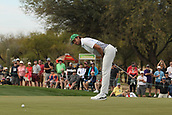 January 31st 2019, Scotsdale, Arizona, USA; Aaron Baddeley reacts to missing a putt on the 9th green during the first round of the Waste Management Phoenix Open