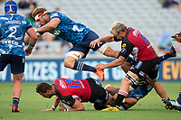 March 14th 2020, Eden Park, Auckland, New Zealand;  Blues loos fprward Blake Gibson in action against the Lions during the Super Rugby match between the Blues and the Lions, held at Eden Park, Auckland, New Zealand.