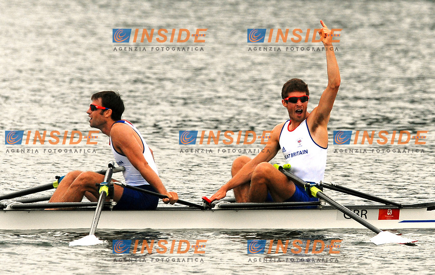 Lightweight Men's Double. Zac Purchase, Mark Hunter, Great Britain, Gold Medal<br /> Sy Rowing and Canoeing Park<br /> Pechino - Beijing 17/8/2008 Olimpiadi 2008 Olympic Games<br /> Foto Andrea Staccioli Insidefoto