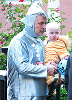 NEW YORK, NY October 31, 2017  Alec Baldwin, Leonardo Angel Charles Badwin dress for Halloween in New York October 31,  2017. Credit:RW/MediaPunch