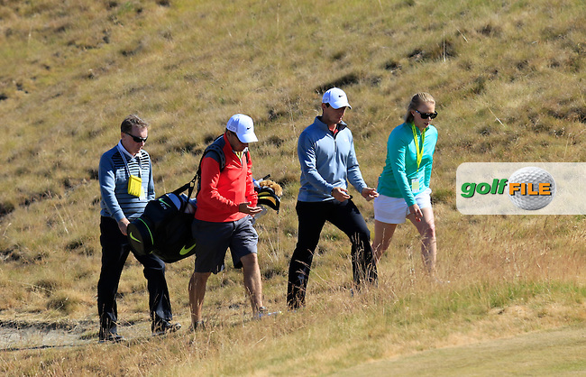 \{prsn}\ during Wednesday's Practice Day of the 2015 U.S. Open 115th National Championship held at Chambers Bay, Seattle, Washington, USA. 6/17/2015.<br /> Picture &copy; Golffile/Eoin Clarke