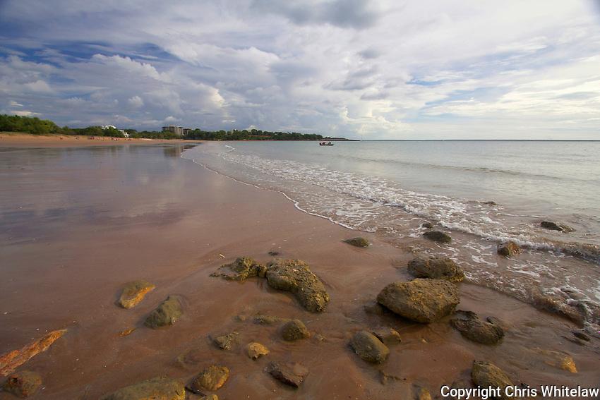 View looking north along Mindil Beach, Darwin NT