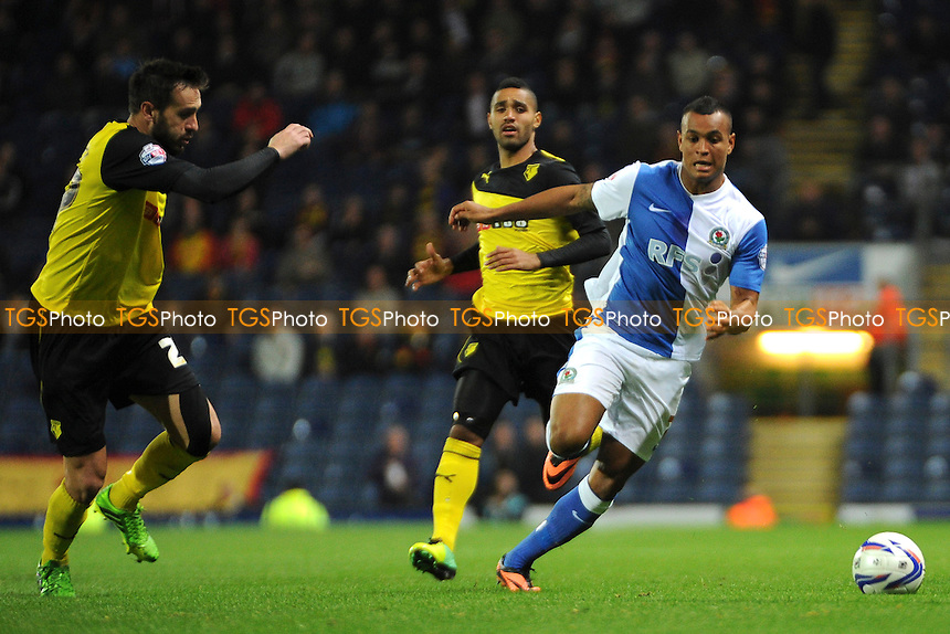 Joshua King of Blackburn Rovers goes on the attack - Blackburn Rovers vs Watford - Sky Bet Championship Football at Ewood Park, Blackburn, Lancashire - 01/10/13 - MANDATORY CREDIT: Greig Bertram/TGSPHOTO - Self billing applies where appropriate - 0845 094 6026 - contact@tgsphoto.co.uk - NO UNPAID USE