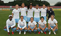 The starting eleven for the Chicago Red Stars.  Sky Blue defeated the Chicago Red Stars 1-0 in a mid-week game, Wednesday, June 17, at Yurcak Field.