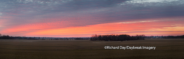 63893-02504 Sunset at Prairie Ridge State Natural Area, Marion County, IL
