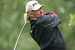 Miguel Angel Jimenez of Spain tees of in the final round of the BMW PGA Championship on the 27th of May 2007 at the Wentworth Golf Club, Surrey, England. (Photo by Manus O'Reilly/NEWSFILE)