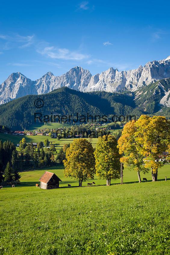 Austria, Styria, Ramsau and Dachstein mountains   Oesterreich, Steiermark, Ramsau vor Dachsteingruppe