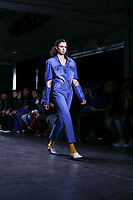 NOVA YORK . EUA, 09.02.2019 - MODA-EUA - Modelo durante desfile Dirty Pineapple no New York Fashion Week (NYFW) em Nova York neste sabado,09. (Foto: Vanessa Carvalho/Brazil Photo Press)