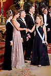 Queen Letizia, Juliana Awada, President of Argentine Republic, Mauricio Macri, King Felipe VI of Spain and president of the congress, Ana Pastor  during the gala dinner given to the President of the Argentine Republic, Sr. Mauricio Macri and Sra Juliana Awada at Real Palace in Madrid, Spain. February 19, 2017. (ALTERPHOTOS/BorjaB.Hojas)