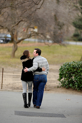 Alexandra and Scott's engagement photos at the Central Park Boat House on a Winter Day.  <br /> <br /> To see an image larger, click on it.