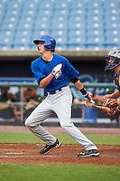 David Sheaffer #8 of Mt. Airy, North Carolina playing for the Toronto Blue Jays scout team during the East Coast Pro Showcase at Alliance Bank Stadium on August 1, 2012 in Syracuse, New York.  (Mike Janes/Four Seam Images)