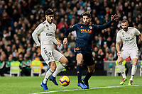 Real Madrid's Marco Asensio and Valencia CF's Cristiano Piccini during La Liga match between Real Madrid and Valencia CF at Santiago Bernabeu Stadium in Madrid, Spain. December 01, 2018. (ALTERPHOTOS/A. Perez Meca) /NortePhoto NORTEPHOTOMEXICO