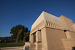 Frank Lloyd Wright's Hollyhock House in Barnsdall Art Park, Hollywood, Los Angeles, CA