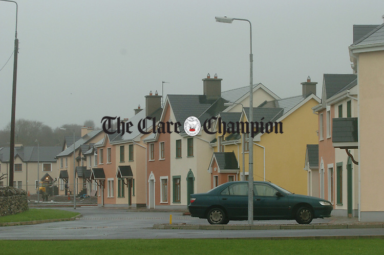 Some of the recent housing development in Crusheen.