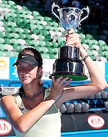 Karolina Pliskova (CZE) (6) against Laura Robson (GBR) in the Final of the Junior Girls Singles. Pliskova beat Robson 6-1 7-6..International Tennis - Australian Open Tennis - Sat 30  Jan 2010 - Melbourne Park - Melbourne - Australia ..© Frey - AMN Images, 1st Floor, Barry House, 20-22 Worple Road, London, SW19 4DH.Tel - +44 20 8947 0100.mfrey@advantagemedianet.com